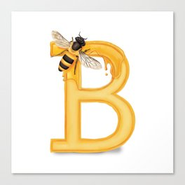 B is for Bee Canvas Print