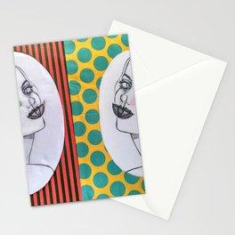 dama del paraguas Stationery Cards