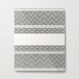African Wax Print in Cream Metal Print