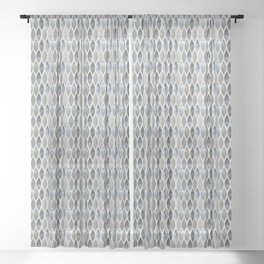 Metallic Armour Sheer Curtain
