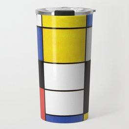 Mondrian's Composition A (High Resolution) Travel Mug