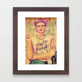 daft punk & frida Framed Art Print