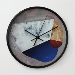 Compositional Collage 01 Wall Clock