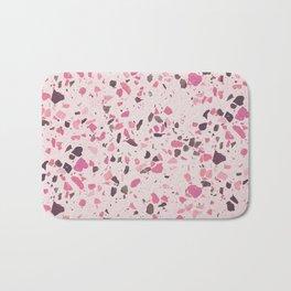 Abstract modern girly pastel pink black marble Bath Mat
