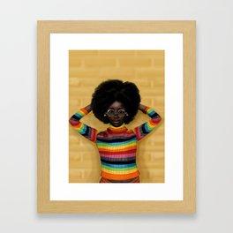 afro Framed Art Print