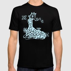 Giraffa camelopardalis Black MEDIUM Mens Fitted Tee