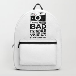 There are no bad pictures, the photographer t-shirt Backpack