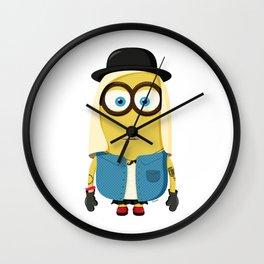 Hipster Girl Minion Wall Clock