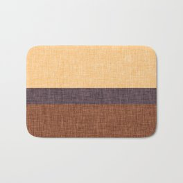 Simple Stripe Abstract with Burlap Pattern Bath Mat