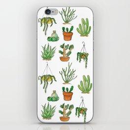 succulent pots iPhone Skin