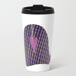 Pink and Purple Snail Travel Mug