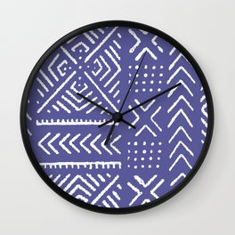 Line Mud Cloth // Iris Wall Clock