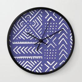 Line Mud Cloth // Iris Wall Clock