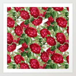 Crimson Rose Bower Art Print