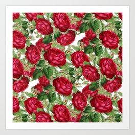 Crimson Rose Bower Art Print