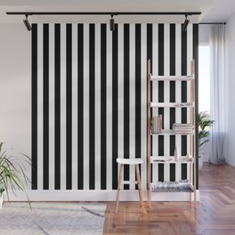 Stripe Black And White Vertical Line Bold Minimalism Stripes Lines Wall Mural