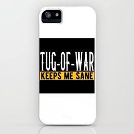 Tug Of War Lovers Gift Idea Design Motif iPhone Case