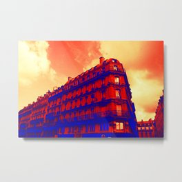 Paris in red and Blue by Lika Ramati Metal Print