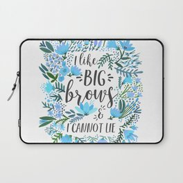 Big Brows – Blue Palette Laptop Sleeve
