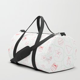 Christmas pattern on red, green and white colors Duffle Bag