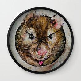 Hamster Love Wall Clock