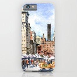 Union Square Greenmarket iPhone Case