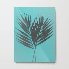 Palm Leaves #1 #Mint #decor #art #society6 Metal Print