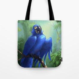 Moseley the Hyacinth Macaw Tote Bag