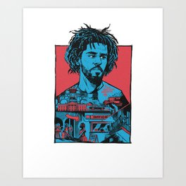 Cole World Four Art Print