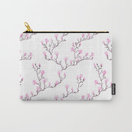 Pink watercolor magnolia pattern Carry-All Pouch