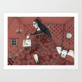 Schneewittchen-The House of the Seven Dwarfs Art Print