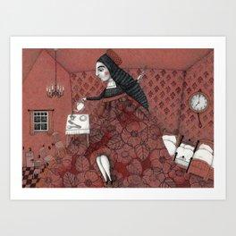 Schneewittchen-The House of the Seven Dwarfs Art Print