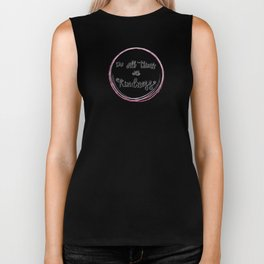 'Do All Things With Kindness' hand-lettered design by Annalee Beer Biker Tank