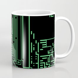 Green circuits Coffee Mug