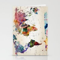 butterfly Stationery Cards featuring map by mark ashkenazi