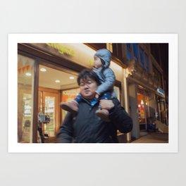 Father Carrying his Girl on his Nick, B Art Print