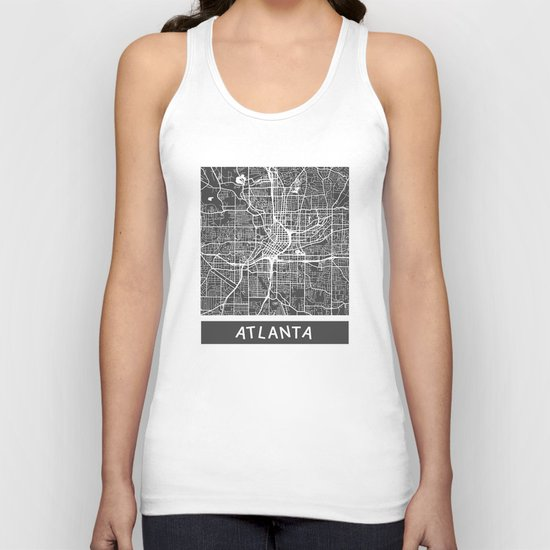 Atlanta map Unisex Tank Top