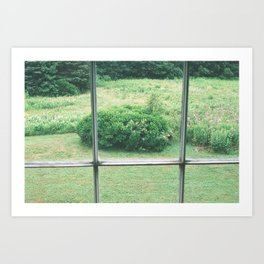 view from the olson house Art Print