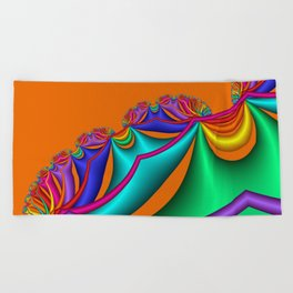 whirls of color -03- Beach Towel