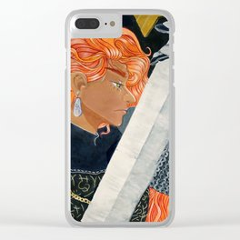 Crimson Haired Knight Clear iPhone Case