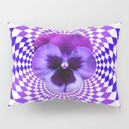 OPTICAL LILAC  PURPLE PANSIES GEOMETRIC ART Pillow Sham