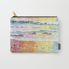 Sandpipers on Beach Carry-All Pouch