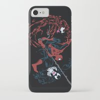 carnage iPhone & iPod Cases featuring Spider-man - Carnage VS Spidey VS Venom by TracingHorses