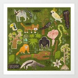 Rainforest citizens Art Print