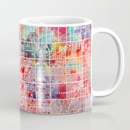 Pembroke Pines map Florida painting 2 Coffee Mug