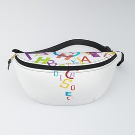 Alphabet cyclone in rainbow colors Fanny Pack