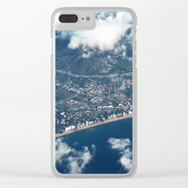 Barcelona from above Clear iPhone Case