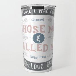 """Called"" Hand-Lettered Bible Verse Travel Mug"