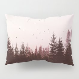 Pinky Sunset Forest Pillow Sham