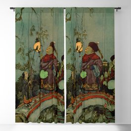 """""""In Search of a Nightingale"""" by Edmund Dulac Blackout Curtain"""